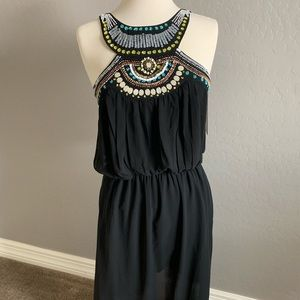 Tribal Beaded Dress Boston Proper SZ Small/XS